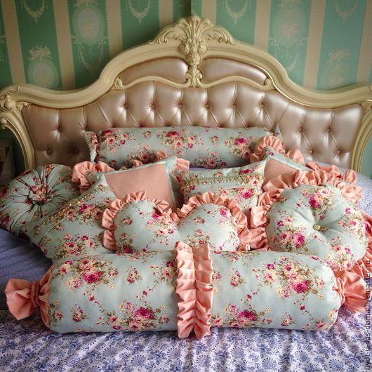 Текстиль, ковры ручной работы. Ярмарка Мастеров - ручная работа. Купить Изумительные интерьерные подушки. Handmade. Разноцветный, подушка декоративная