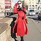 """Верхняя одежда ручной работы. Пальто """"Signorina"""", зима. Ciao, Bella!  женственная одежда. Ярмарка Мастеров. Красное пальто"""