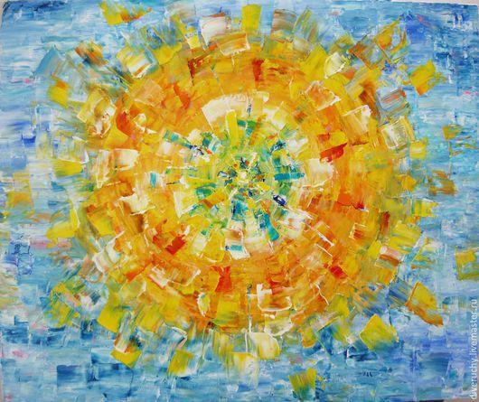 Абстракция ручной работы. Ярмарка Мастеров - ручная работа. Купить Ода Солнцу. Handmade. Разноцветный, мандала, масло