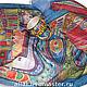Шарфы и шарфики ручной работы. Ярмарка Мастеров - ручная работа. Купить Город  Хундертвассера. Handmade. Тёмно-синий, шелковый шарф