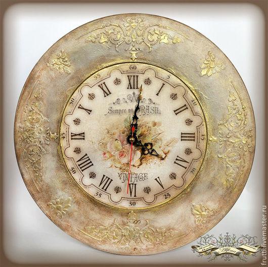 """Часы для дома ручной работы. Ярмарка Мастеров - ручная работа. Купить Часы """"Всегда в Бразилии"""". Handmade. Бежевый, нужная вещь"""