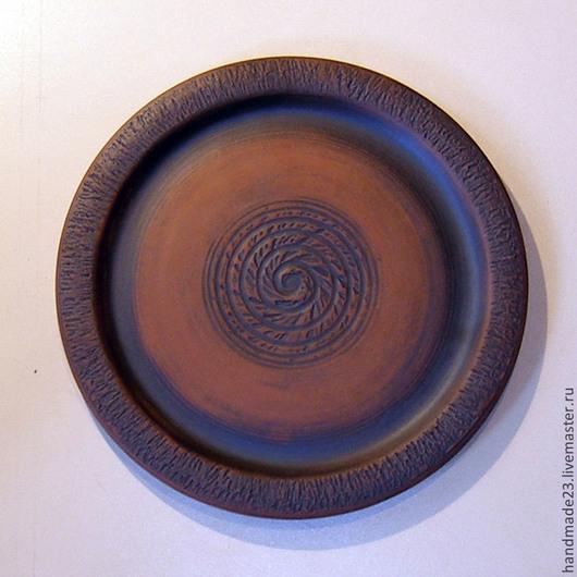 """Тарелки ручной работы. Ярмарка Мастеров - ручная работа. Купить тарелка """"солнце в тарелке"""". Handmade. Коричневый, глина"""