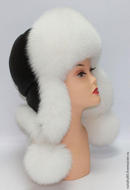 Шапки ручной работы. Ярмарка Мастеров - ручная работа. Купить Женская меховая шапка белая, Финский FOX  SAGA Royal. Handmade.