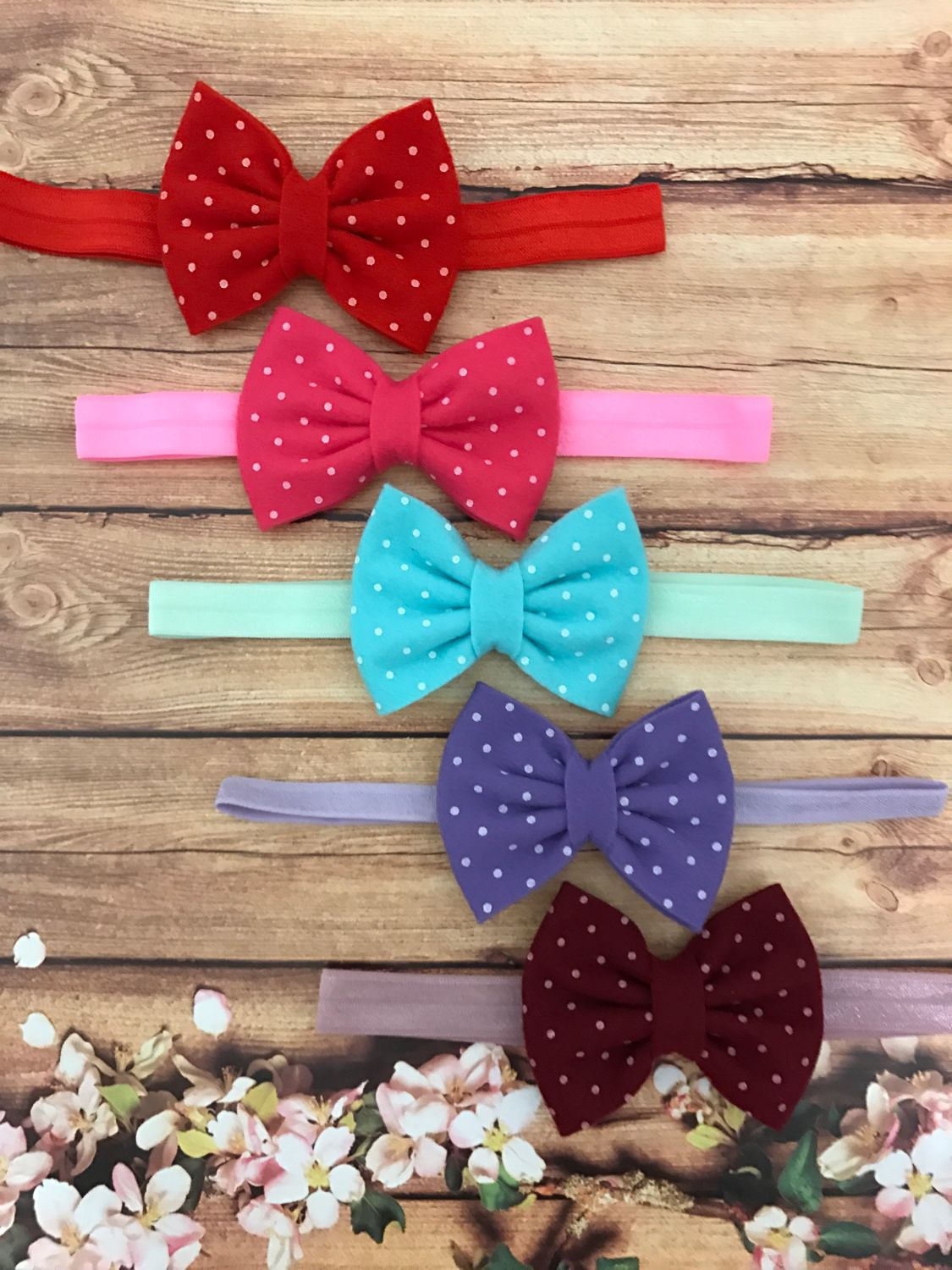 The bow felt with print and elastic band, Knot hair bow, Moscow,  Фото №1