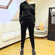 Одежда ручной работы. Ярмарка Мастеров - ручная работа Вязаный костюм женский Black Edition. Handmade.