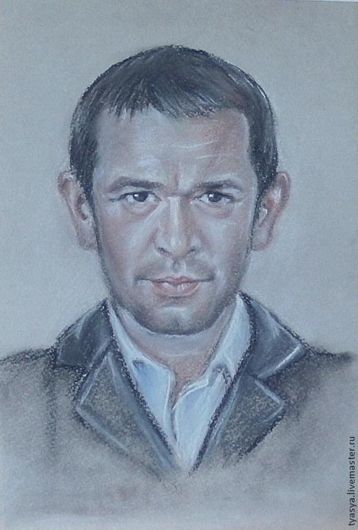 Люди, ручной работы. Ярмарка Мастеров - ручная работа. Купить Портрет (сухая пастель). Handmade. Серый, портрет по фото, подарок