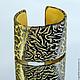 Авторский браслет из натуральной кожи Леопард, купить авторский браслет из кожи, браслет из кожи с леопардовым принтом купить, желтый кожаный браслет, желтый браслет из кожи