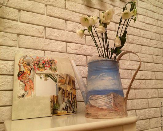 """Лейки ручной работы. Ярмарка Мастеров - ручная работа. Купить Лейка """"Одинокое море"""". Handmade. Голубой, лейка садовая, сад"""