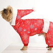 """Для домашних животных, ручной работы. Ярмарка Мастеров - ручная работа Одела для собак Комбинезон """"Санта"""". Handmade."""