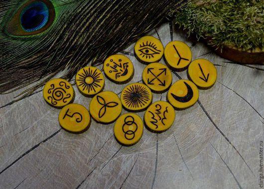 Гадания ручной работы. Ярмарка Мастеров - ручная работа. Купить Ведьмины РУНЫ. Handmade. Желтый, руны, руны купить, ведьма