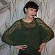 Кофты и свитера ручной работы. Ярмарка Мастеров - ручная работа. Купить Мохеровая блуза темно-зеленая. Handmade. Болотный, нежный