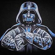 Одежда handmade. Livemaster - original item T-shirt  hand painted Darth Vader. Handmade.