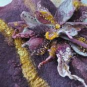 Одежда ручной работы. Ярмарка Мастеров - ручная работа Валяный жилет Eggplant&gold Fantasy. Handmade.