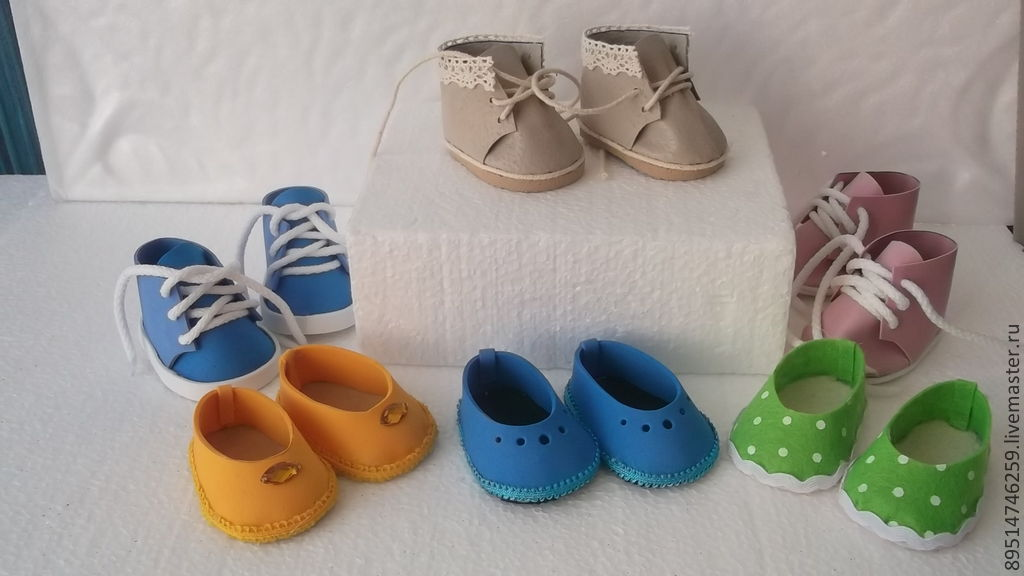 Обувь для кукол из фоамирана своими руками 6