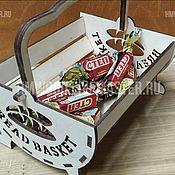 Корзины ручной работы. Ярмарка Мастеров - ручная работа Корзины: Корзина для хлеба (булочек, конфет, печенек) - Bread Basket. Handmade.