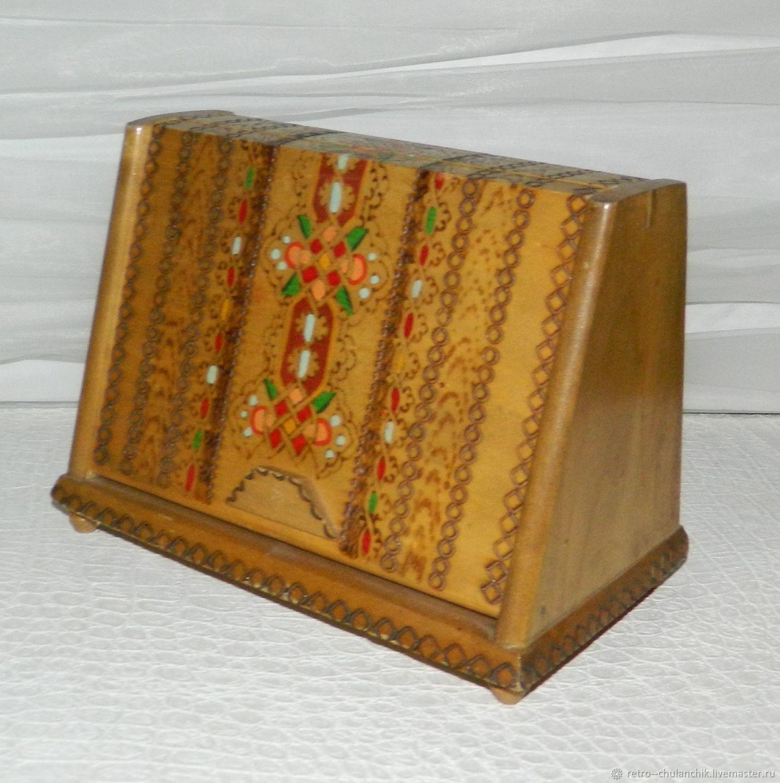 Vintage cigarette box Bulgaria Wood, Vintage interior, Istra,  Фото №1
