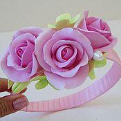 """Украшения ручной работы. Ярмарка Мастеров - ручная работа Ободок """"Вся нежность розы"""". Handmade."""