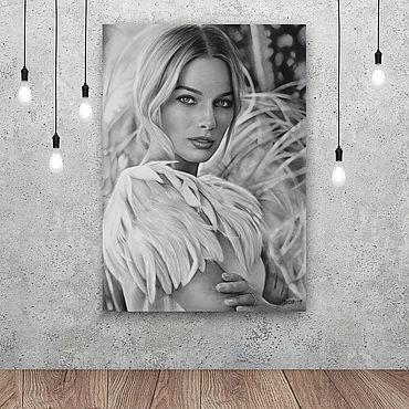 Картины и панно ручной работы. Ярмарка Мастеров - ручная работа Портрет Марго Робби. Handmade.
