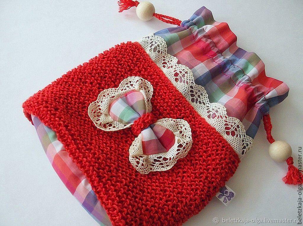 Косметичка Марта- маленькая текстильная сумочка из хлопка красная, Косметички, Уфа,  Фото №1