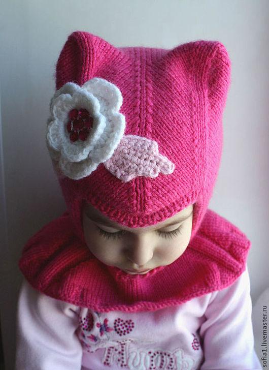 Шапки и шарфы ручной работы. Ярмарка Мастеров - ручная работа. Купить Шапочка-шлем (2 слоя). Handmade. Розовый, шлемик