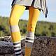 """Брюки, шорты ручной работы. Ярмарка Мастеров - ручная работа. Купить Леггинсы бохо """"Бодрое утро"""". Handmade. Желтый, разноцветные"""
