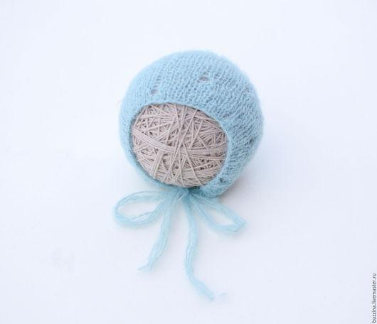Для новорожденных, ручной работы. Ярмарка Мастеров - ручная работа. Купить Шапочка для новорожденного мальчика из альпаки голубая. Handmade. Шапка