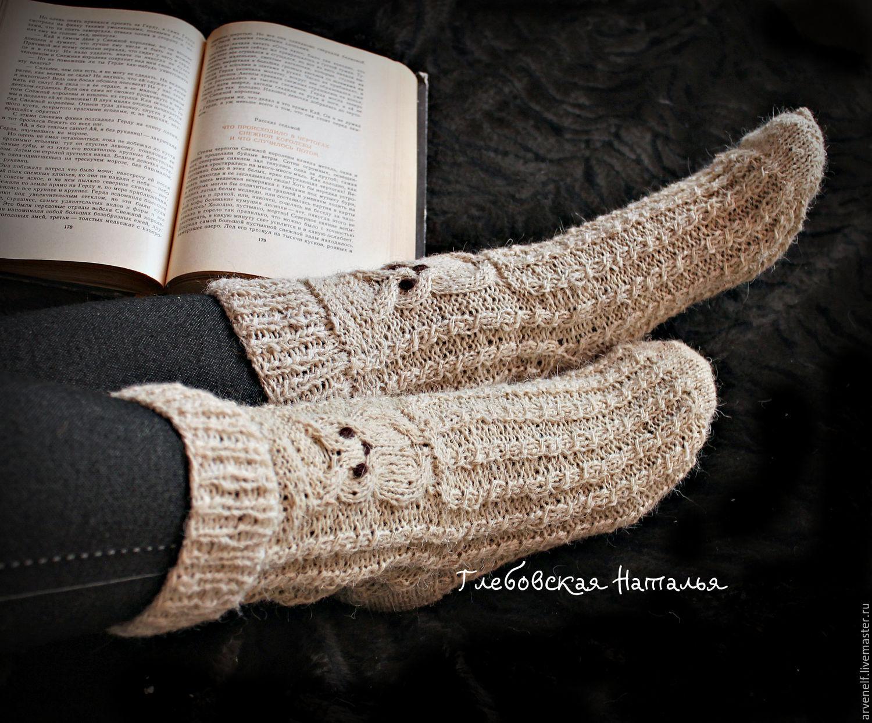 Socks 'Warm tales of the wise Owls'. , Socks, Orenburg,  Фото №1