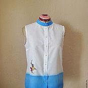 """Одежда ручной работы. Ярмарка Мастеров - ручная работа Блузка """"SOS матросу"""". Handmade."""