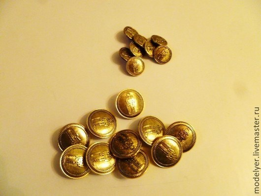 Шитье ручной работы. Ярмарка Мастеров - ручная работа. Купить Пуговица на ножке , металл цвет / золото. Handmade. Золотой