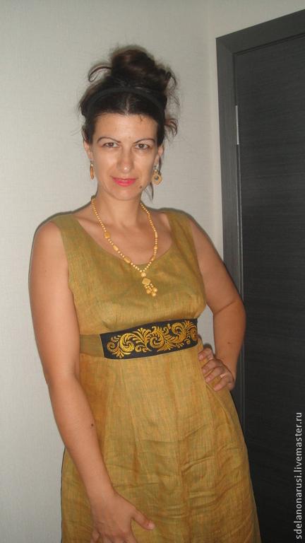 Этническая одежда ручной работы. Ярмарка Мастеров - ручная работа. Купить Платье. Handmade. Платье, лён