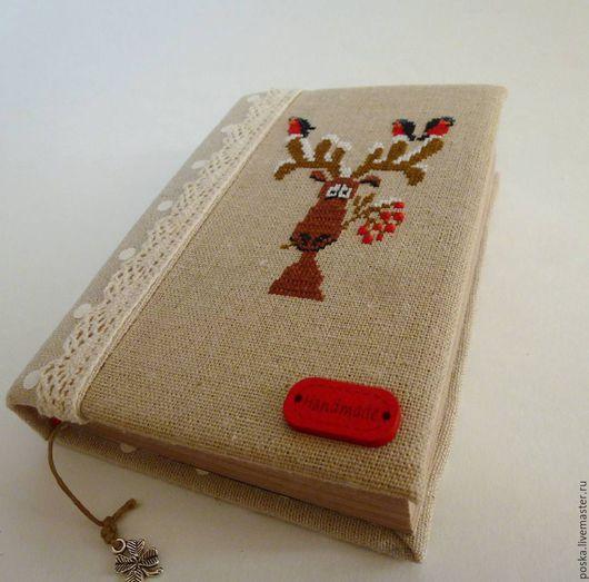 """Блокноты ручной работы. Ярмарка Мастеров - ручная работа. Купить Блокнот """"Зимний"""". Handmade. Бежевый, блокнот ручной работы, зима"""