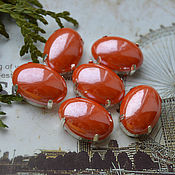 Материалы для творчества handmade. Livemaster - original item Pearl rhinestones Coral 13h18 mm oval. Handmade.