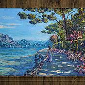 Картины и панно handmade. Livemaster - original item Oil painting mountain lake, southern landscape, order painting. Handmade.