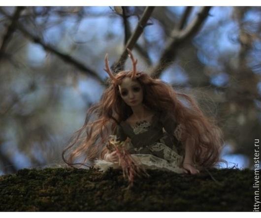 Коллекционные куклы ручной работы. Ярмарка Мастеров - ручная работа. Купить Лика.Лесной олень. Handmade. Коричневый, БЖД кукла