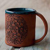 Посуда ручной работы. Ярмарка Мастеров - ручная работа Кружка керамика Ягодная полянка. Handmade.