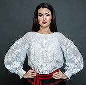 """Одежда ручной работы. Ярмарка Мастеров - ручная работа Белая блуза с вышивкой  """"Белая роскошь"""" ручная вышивка. Handmade."""
