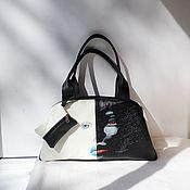 Сумки и аксессуары handmade. Livemaster - original item Leather bag with painted to order.. Handmade.
