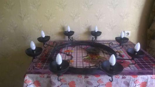 Освещение ручной работы. Ярмарка Мастеров - ручная работа. Купить люстра замковая. Handmade. Черный, замок, цепи, металл, сталь