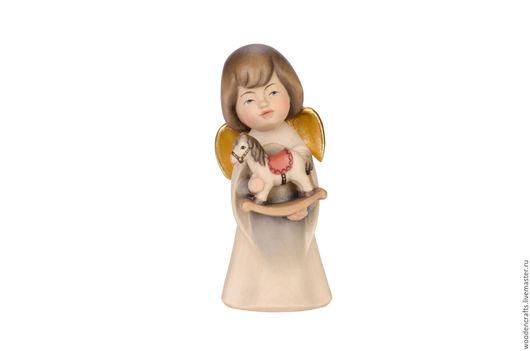 Статуэтки ручной работы. Ярмарка Мастеров - ручная работа. Купить Ангел с лошадкой из дерева. Handmade. Комбинированный, фигурка, лошадь, маме