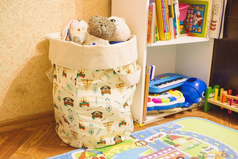 Текстильная корзина для игрушек, Корзины, Санкт-Петербург,  Фото №1