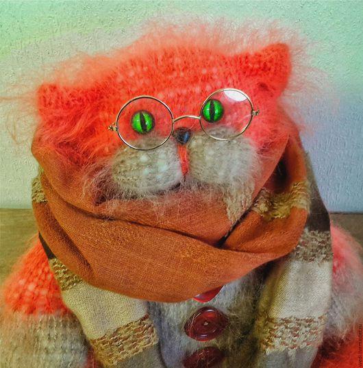"""Куклы и игрушки ручной работы. Ярмарка Мастеров - ручная работа. Купить Кот вязаный """" Очевидное- невероятное"""". Handmade. Рыжий"""
