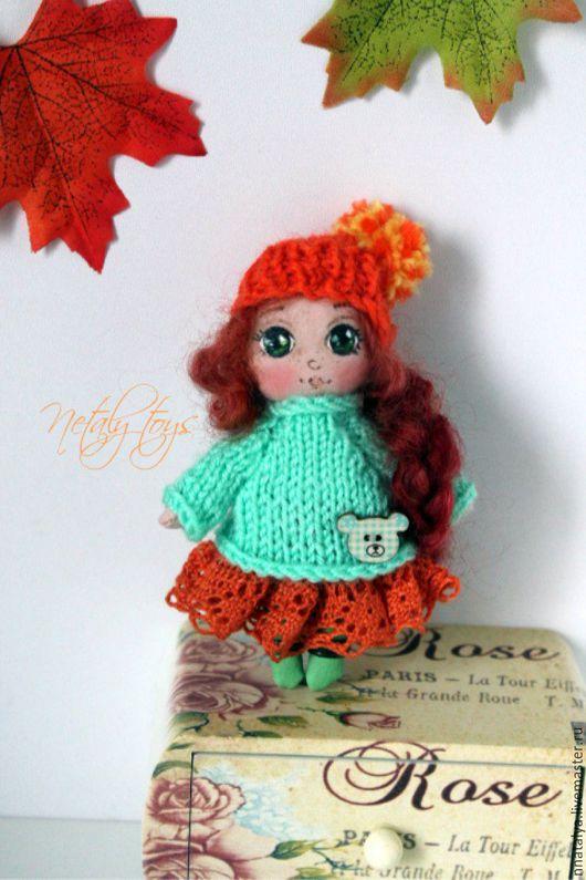 Коллекционные куклы ручной работы. Ярмарка Мастеров - ручная работа. Купить ПРОДАНА! Крошка в ладошку 12 см ростом. Handmade.