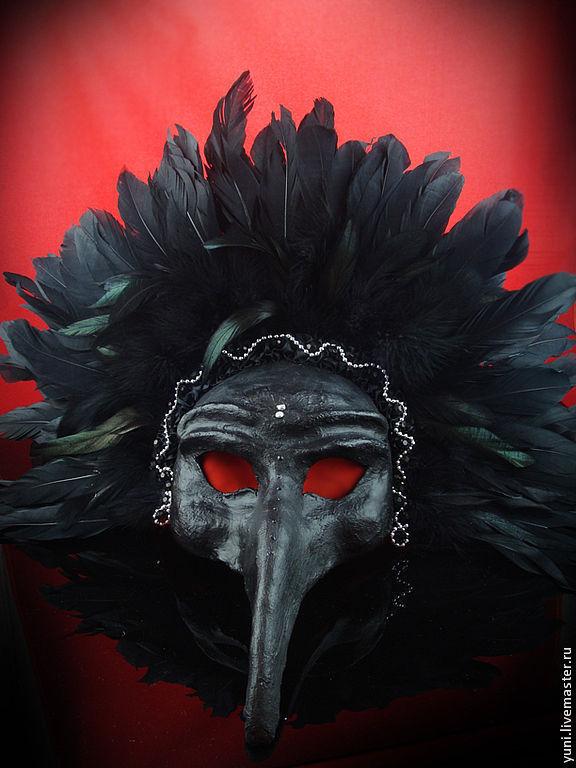 Карнавальные костюмы ручной работы. Ярмарка Мастеров - ручная работа. Купить Маска черный Ворон. Handmade. Венецианская маска, маска