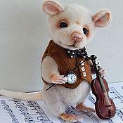 Мягкие игрушки ручной работы. Ярмарка Мастеров - ручная работа Рет музыкант. Handmade.