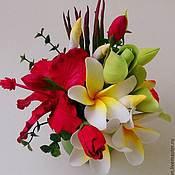 Цветы и флористика ручной работы. Ярмарка Мастеров - ручная работа Травиатта - цветочная композиция. Handmade.