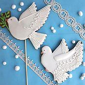 Сувениры и подарки handmade. Livemaster - original item Gingerbread Dove. Wedding gingerbread. Stick to prom.. Handmade.