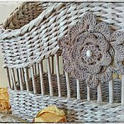 "Канцелярские товары ручной работы. Ярмарка Мастеров - ручная работа Газетница ""Fleur"". Handmade."