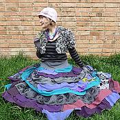 Одежда ручной работы. Ярмарка Мастеров - ручная работа Фиолетовая  радуга. Handmade.