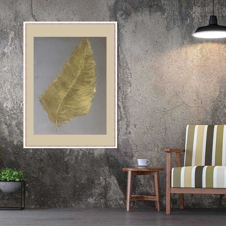 Интерьерная картина «Золотое перо», абстракция, Картины, Челябинск,  Фото №1