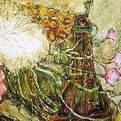 Картины и панно ручной работы. Ярмарка Мастеров - ручная работа Букет и фрукты. Handmade.